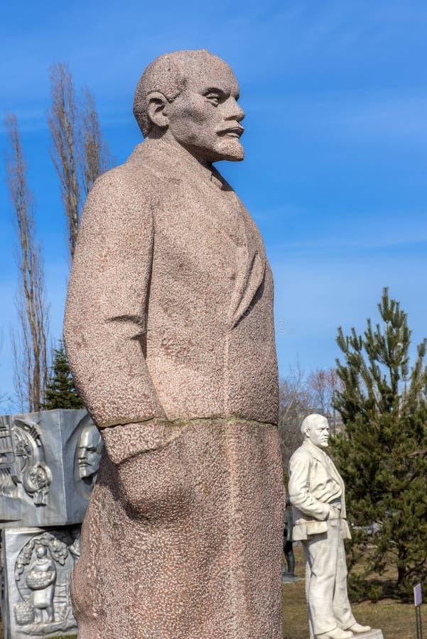 Monumento de Lenin en el parque de Art Museon en Mosc?, Rusia fotografía de archivo