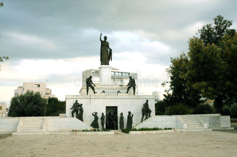 Monumento de Liberty Monument ou de Eleftheria, Nicosia fotos de stock royalty free