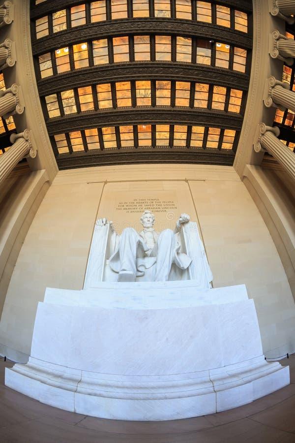 Monumento de Lincoln en Washington DC fotos de archivo
