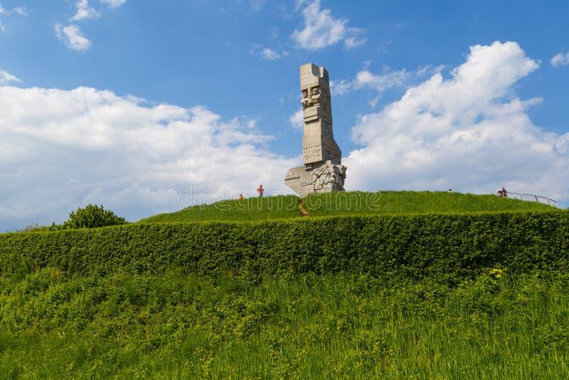 Monumento de los defensores de la costa un monumento en Gdansk foto de archivo libre de regalías