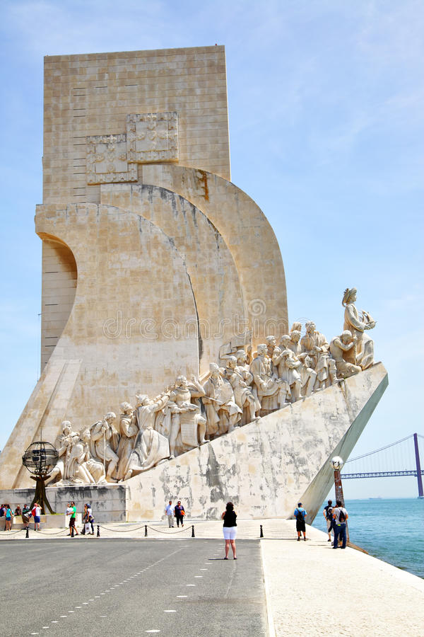 Monumento de los descubrimientos fotos de archivo