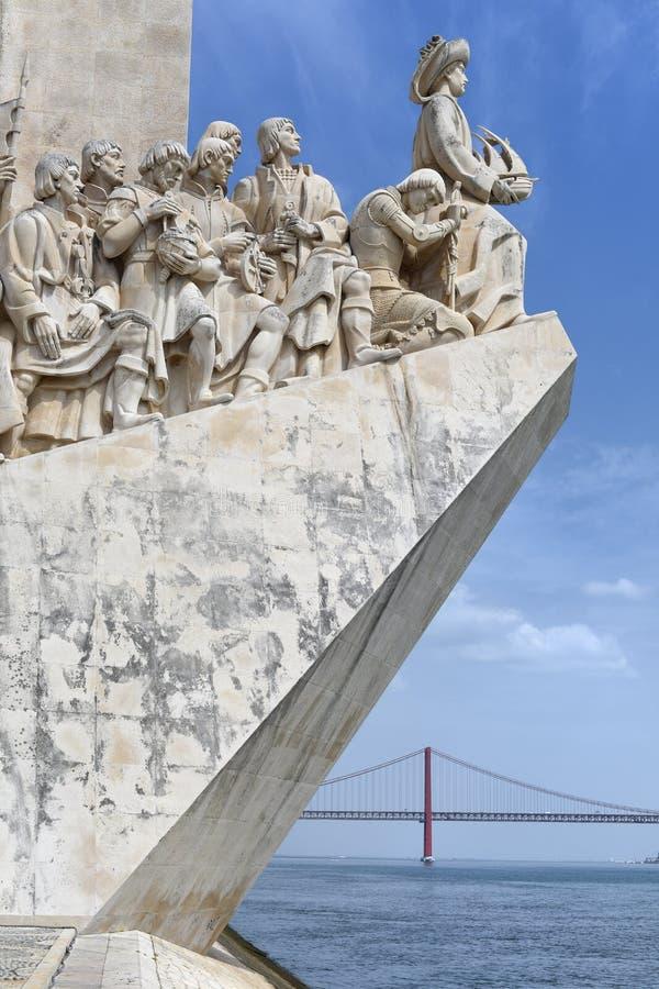 Monumento de los descubrimientos - DOS Descobrimentos, Lisboa, Portugal de Padrao fotografía de archivo libre de regalías