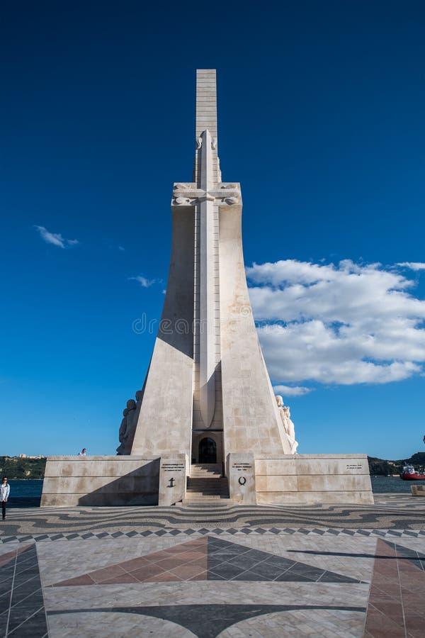 Monumento de los descubrimientos en Lisboa imagen de archivo libre de regalías