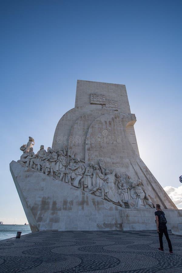 Monumento de los descubrimientos en Lisboa imágenes de archivo libres de regalías