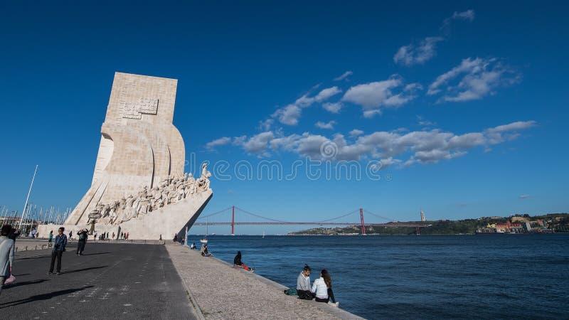 Monumento de los descubrimientos en Lisboa foto de archivo libre de regalías