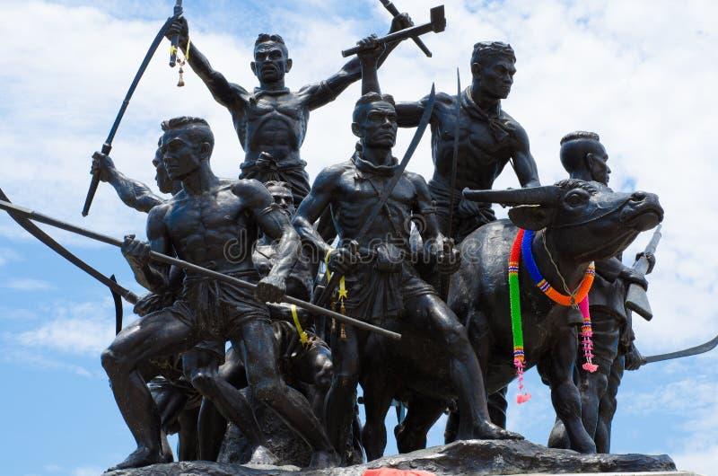 Monumento de los héroes de Rachan de la explosión fotos de archivo libres de regalías