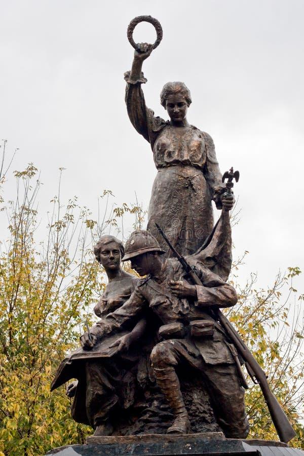 Monumento de los héroes, Mizil, Prahova, Rumania fotos de archivo