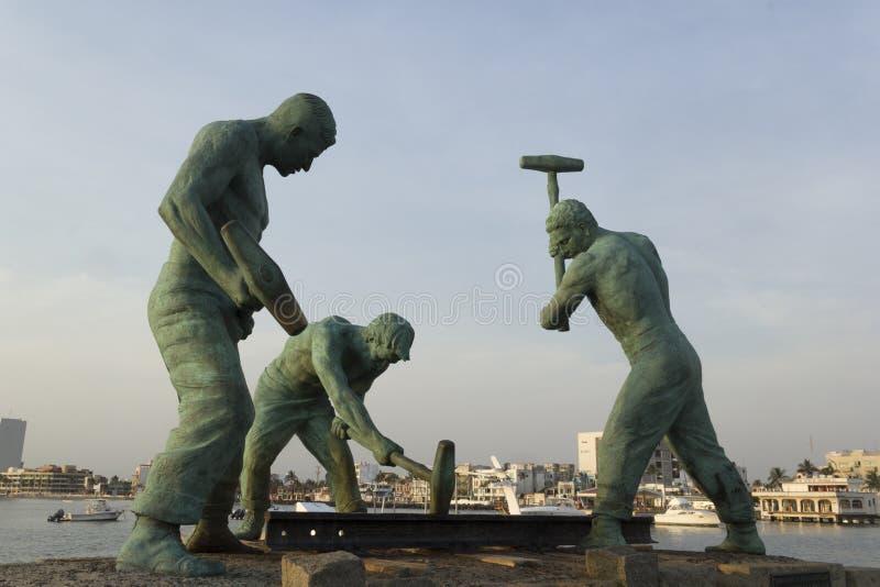 Monumento de los trabajadores de carril imágenes de archivo libres de regalías