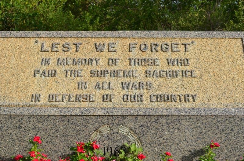 Monumento de los veteranos foto de archivo