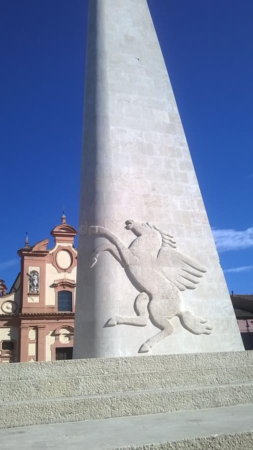 Monumento de Lugo Francesco Baracca imagen de archivo