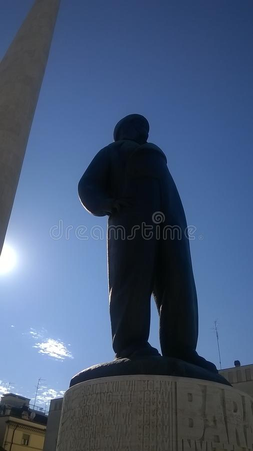Monumento de Lugo Francesco Baracca imagenes de archivo