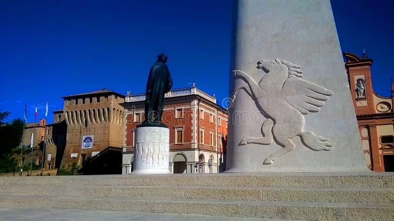 Monumento de Lugo Francesco Baracca fotografía de archivo
