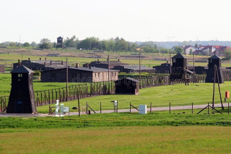 Monumento de Majdanek en Lublin, Polonia foto de archivo