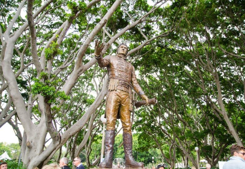 Monumento de Major General Lachlan Macquarie en Hyde Park, Sydney, Australia foto de archivo libre de regalías