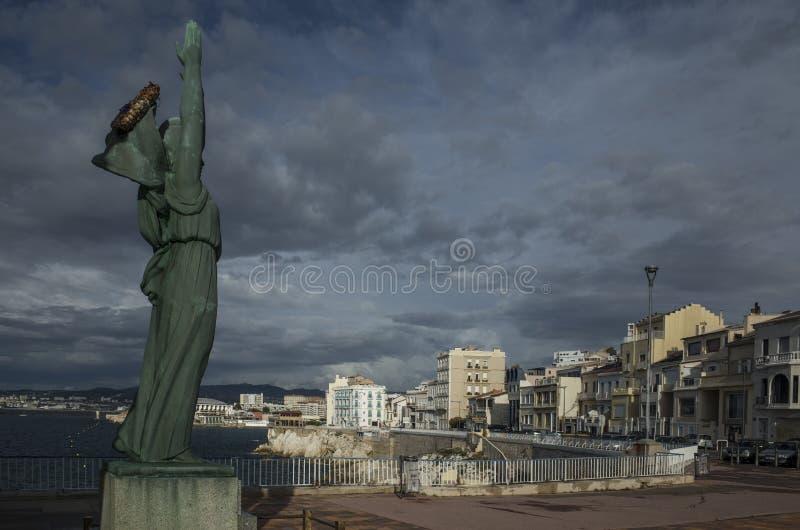 Monumento de Marsella a los muertos de la guerra mundial 1 foto de archivo libre de regalías