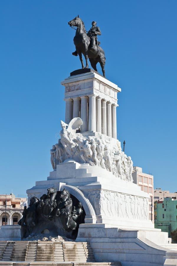 Monumento de Maximo Gómez imagenes de archivo