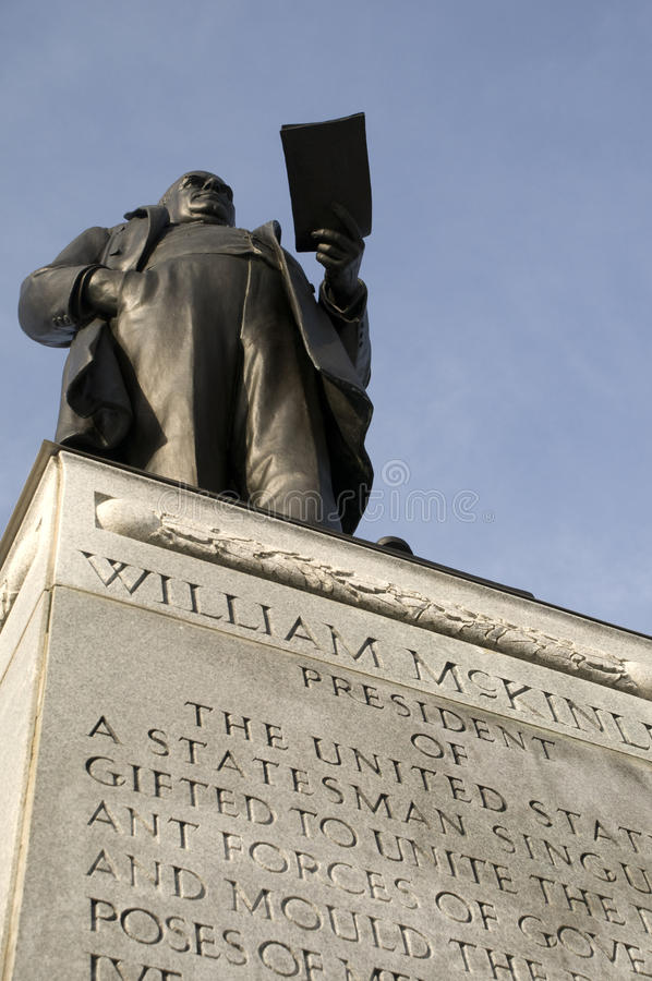 Monumento de McKinley em Ohio fotografia de stock