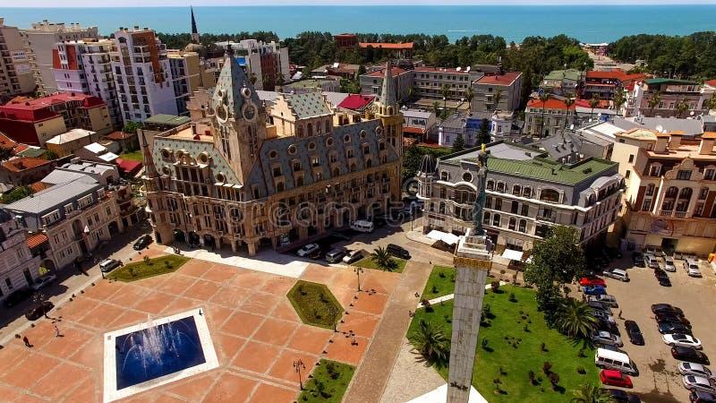 Monumento de Medea no quadrado de Europa em Batumi Geórgia, destino do turista, legenda imagem de stock royalty free