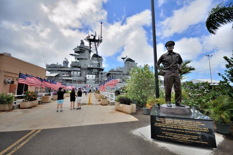 Monumento de Missouri del acorazado de USS imagen de archivo libre de regalías