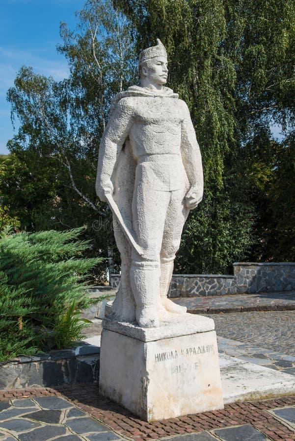 Monumento de Nikola Karadjov imagens de stock royalty free