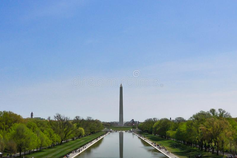 Monumento de Obelisco del Washington DC foto de archivo libre de regalías