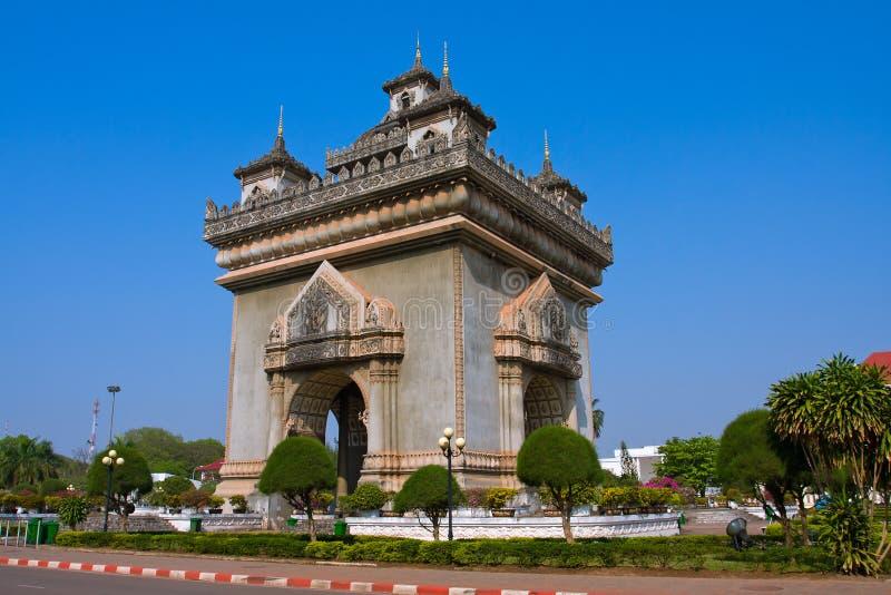 Monumento de Patuxai fotos de archivo
