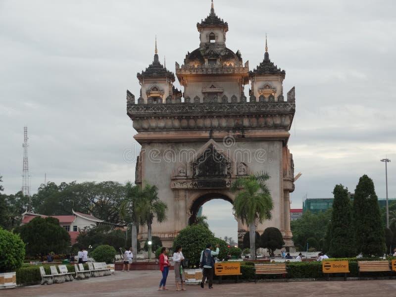 Monumento de Patuxai, Vientián, Laos fotografía de archivo