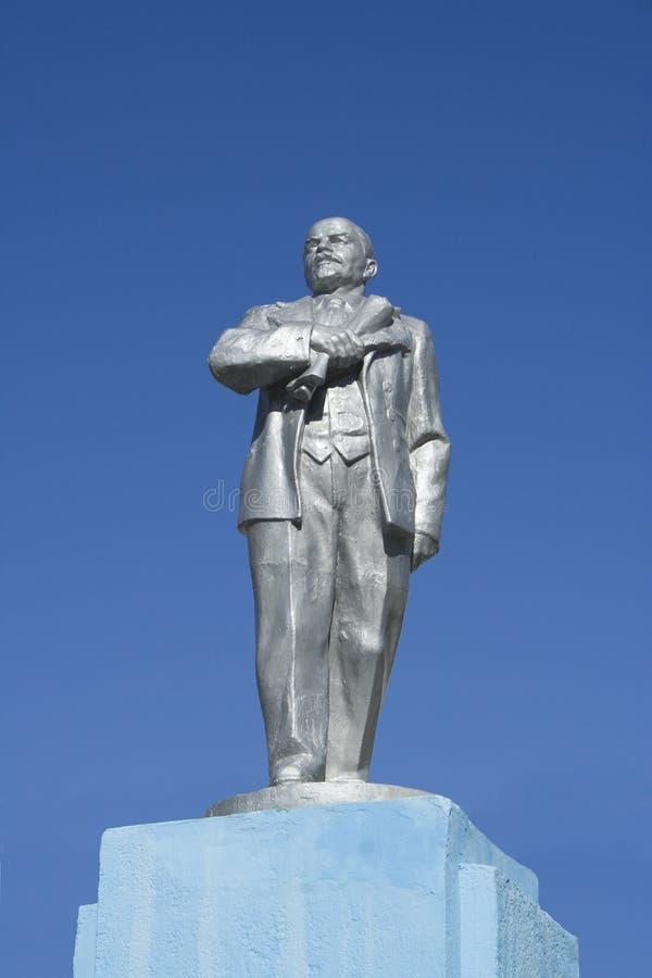 Monumento de pedra de Lenin fotos de stock royalty free