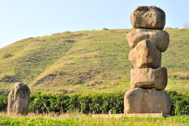 Monumento de pedregulhos do basalto imagem de stock royalty free