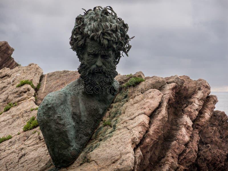 Monumento de Philippe Cousteau foto de archivo