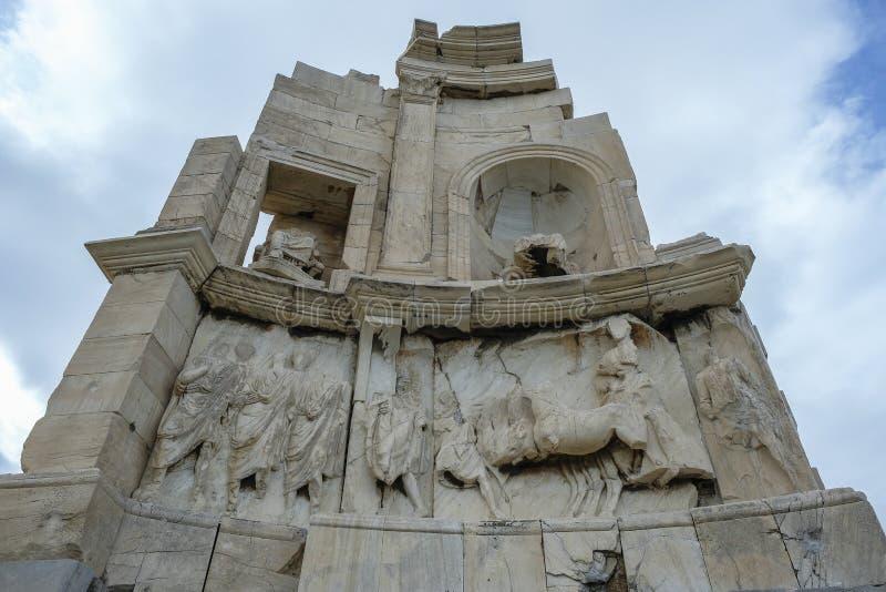 Monumento de Philopappos em Atenas, Grécia fotografia de stock