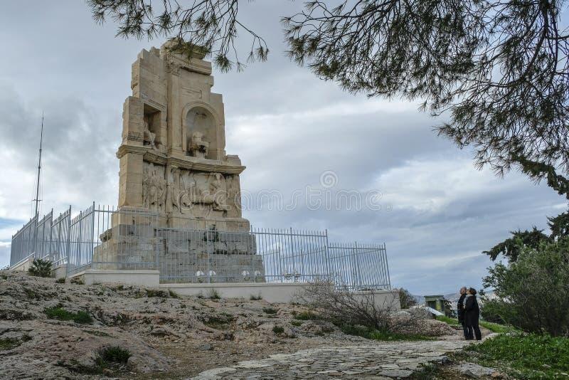 Monumento de Philopappos em Atenas, Grécia imagem de stock royalty free