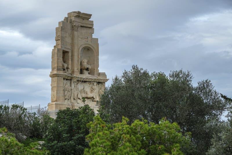 Monumento de Philopappos em Atenas, Grécia foto de stock royalty free