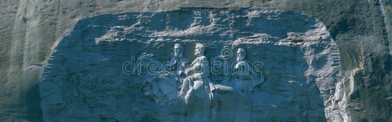 Monumento de piedra de la guerra civil del parque de la montaña foto de archivo