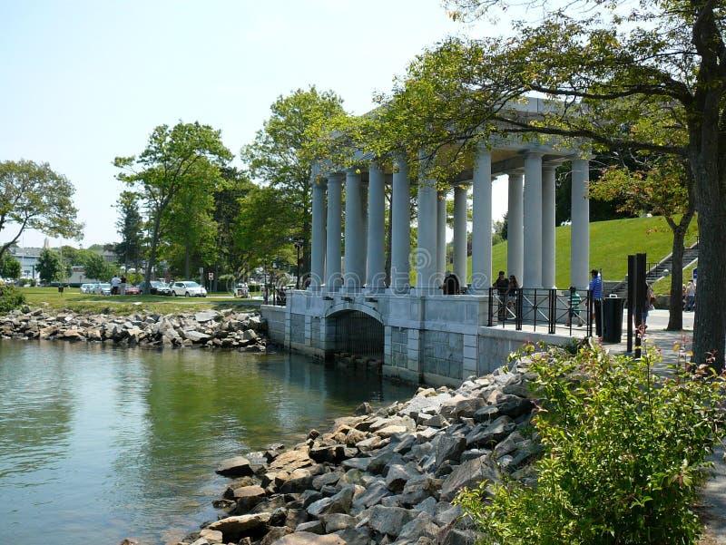 Monumento de Plymouth Rock foto de stock