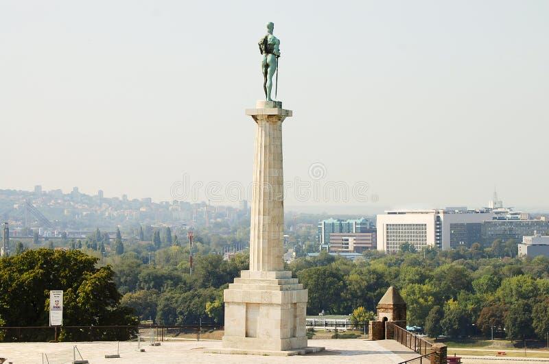 Monumento de Pobednik - Belgrado - Sérvia imagens de stock royalty free