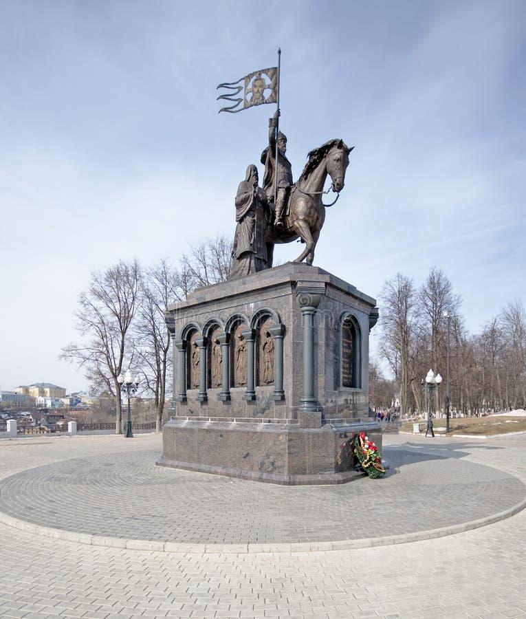 Monumento de príncipe Vladimir en Vladimir fotografía de archivo libre de regalías