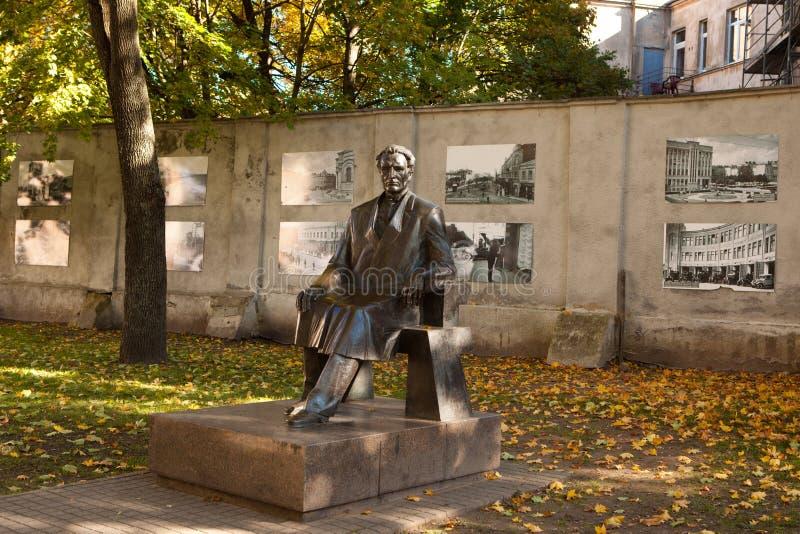 Monumento de presidente Kazys Grinius imágenes de archivo libres de regalías