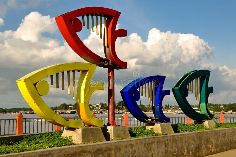 Monumento de Puerto Princesa Baywalk imagem de stock