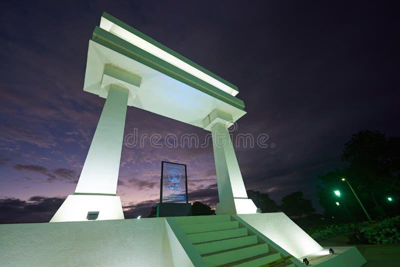 Monumento de Ruben Dario em Nicarágua imagens de stock royalty free