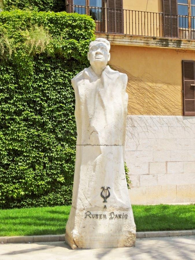 Monumento de Ruben Dario, Palma de Majorca foto de stock