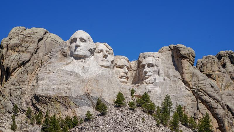 Monumento de Rushmore del montaje imagen de archivo