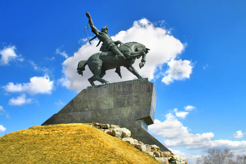 Monumento de Salawat Yulaev em Ufa fotografia de stock