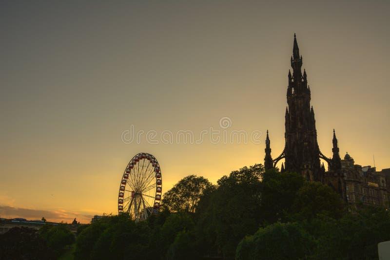 Monumento de Scott, Edimburgo foto de stock