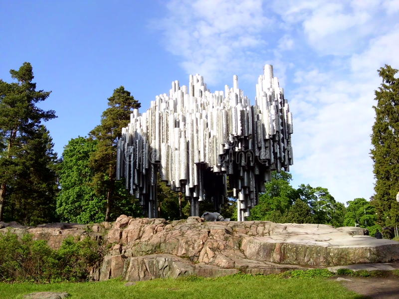 Monumento de Sibelius fotos de archivo