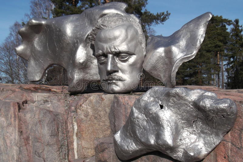 Monumento de Sibelius en Helsinki, Finlandia foto de archivo libre de regalías
