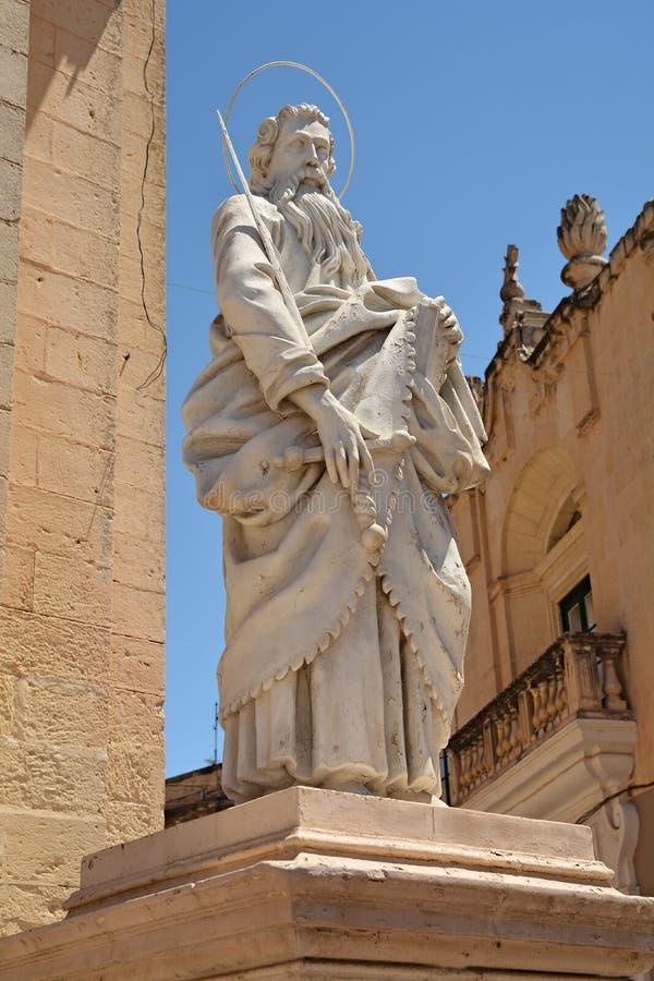 Monumento de St Paul em Rabat imagens de stock