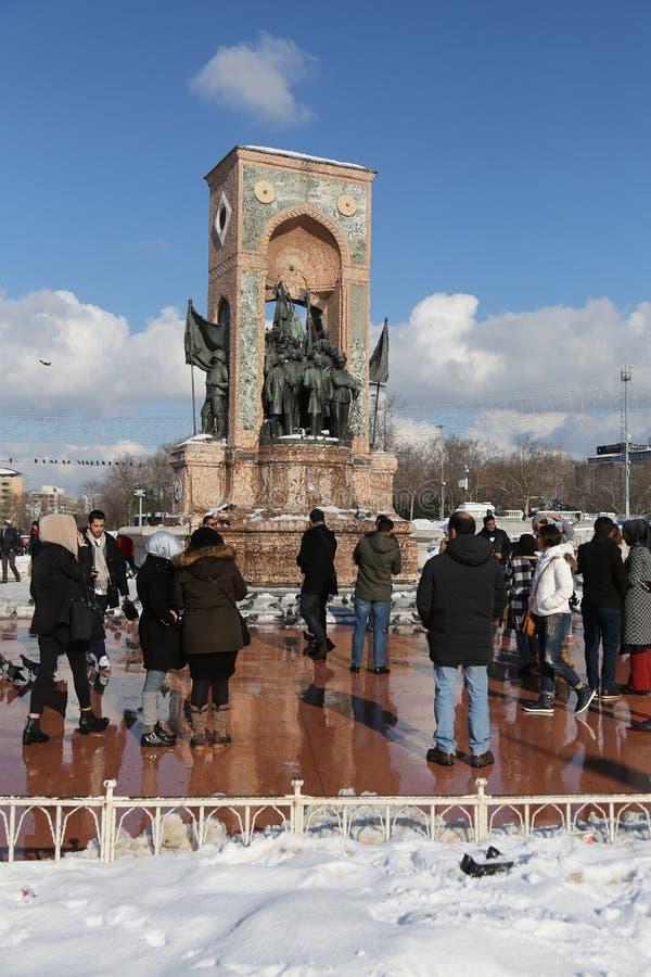 Monumento de Taksim da república foto de stock royalty free