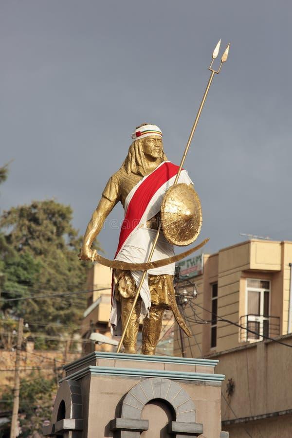 Monumento de Tewodros del emperador imágenes de archivo libres de regalías