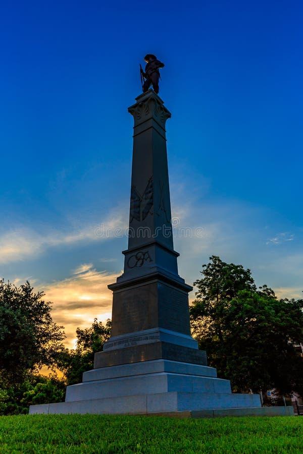 Monumento de Texas Brigade da capa imagem de stock